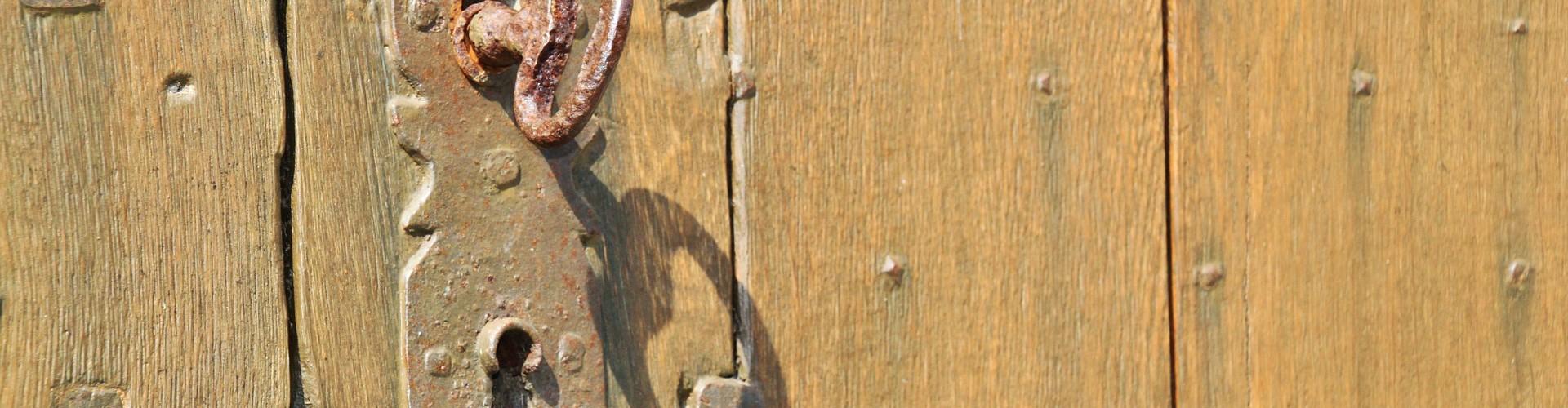 old doorlock with key